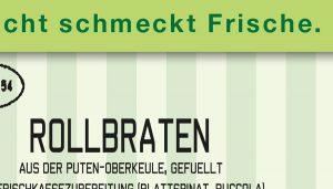 Etikett für Lebensmittelverpackung
